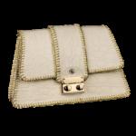 Harper Bag in White Croc Skin Leather