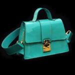 Treasure Chest Leighton Green – Aqua Green Patent