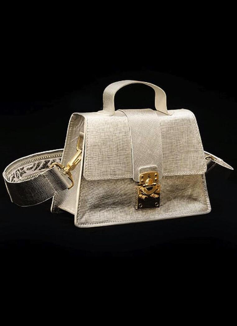 Treasure Chest Leighton Green – Silver Metallic