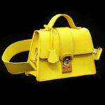 Treasure Chest Leighton Green – Yellow Calfskin Patent