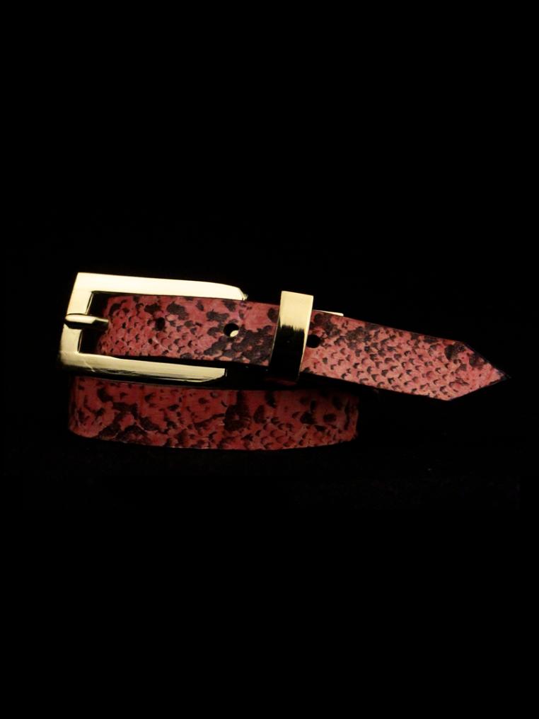 Arden Cuff Leather Yellow Snakeskin – Pink Snakeskin Black Spots
