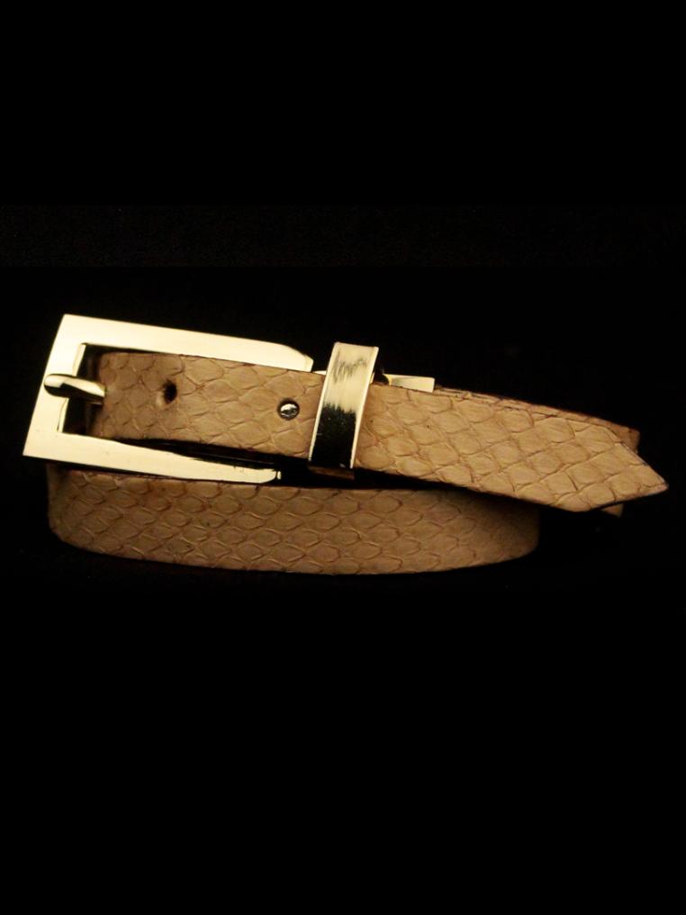 Arden Cuff Leather Yellow Snakeskin – Beige Light Snakeskin