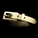 Arden Cuff Leather Yellow Snakeskin – Gold Light Metallic