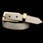 Arden Cuff Leather Yellow Snakeskin – White Epi Leather