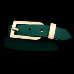 Arden Cuff Leather Yellow Snakeskin – Green Matte Calfskin