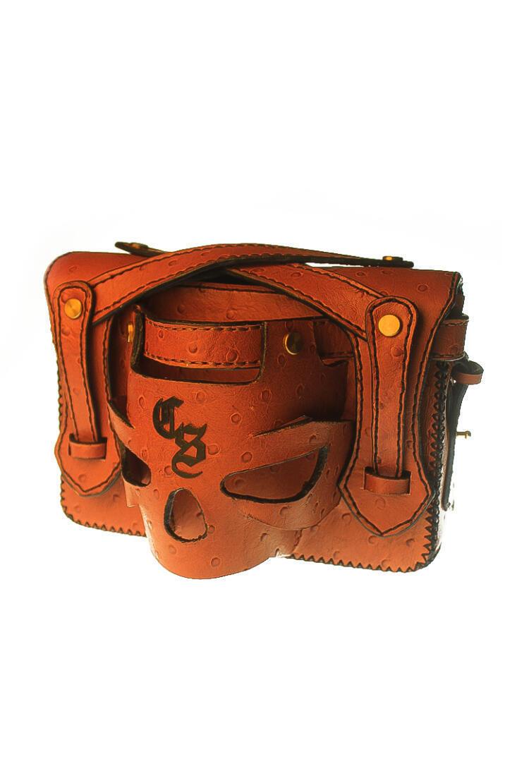3d skull clutch sling bag