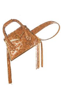 fringe aubree bag - exotic skin designer bag