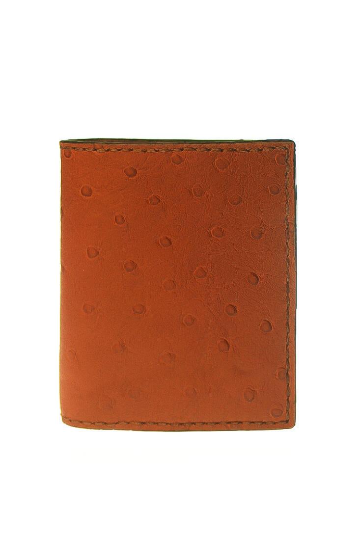 wallet ostrich orange brown 1